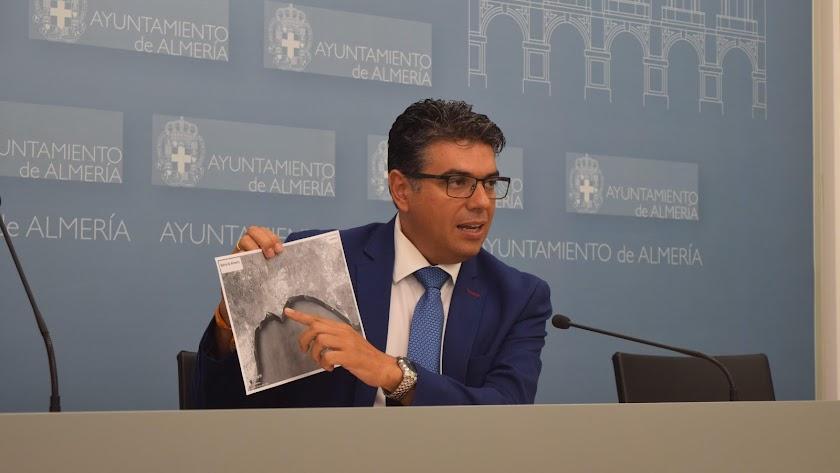 El portavoz de Ciudadanos en el Ayuntamiento de Almería, Miguel Cazorla.