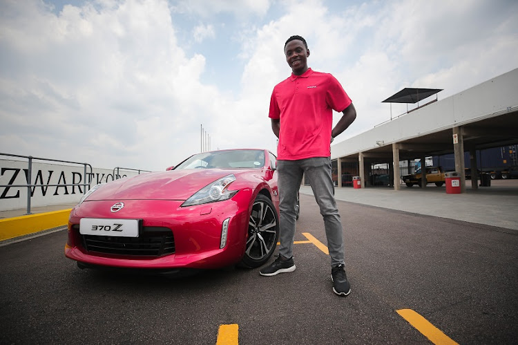 Cricket speedster Kagiso Rabada gets up close and personal with a ferocious all new Nissan 370Z at Zwartkops Raceway.