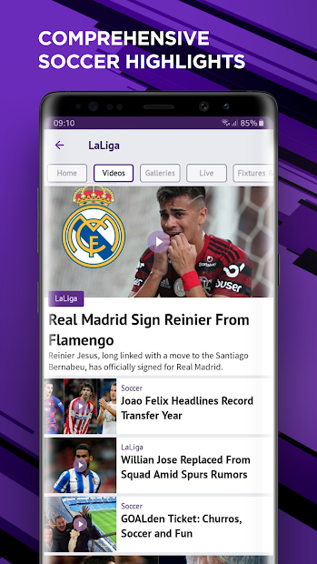 beIN SPORTS Android App Screenshot