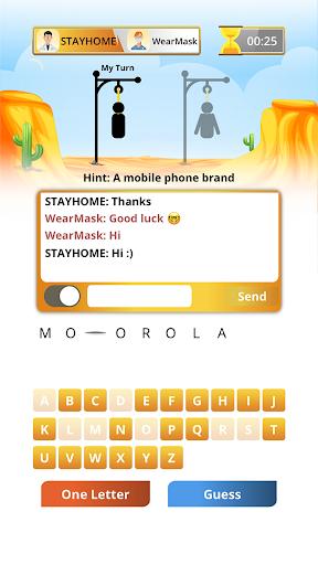 Hangman Multiplayer - Online Word Game 7.7.5 screenshots 2