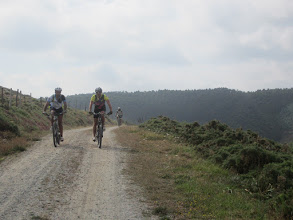 Photo: Eiqui a ruta oficial da costa métese ó interior...