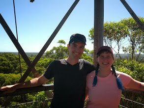 Photo: At the top of Gloucester tree, a 72m tall karri tree used as a fire lookout.  Next photo is how we got up there.
