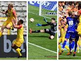 Michael Verrips, German Mera en Nikola Storm reageren na gewonnen bekerfinale tussen KV Mechelen en KAA Gent