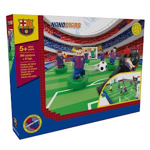 Set de constructie 249 piese, Nanostar, Teren de fotbal, FC Barcelona