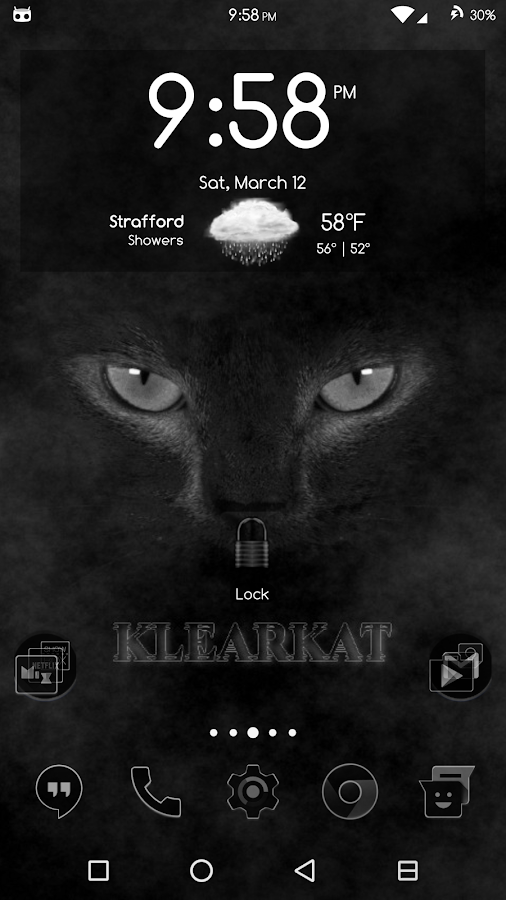 KlearKat Theme CM11/12/13 DU10- screenshot