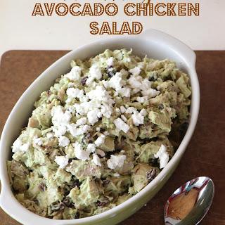 No Mayo Avocado Chicken Salad