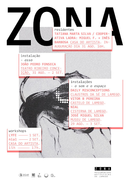 Os selecionados da 2ª edição da ZONA – Residências Artísticas de Lamego, Tatiana Marta Silva e a COOPERATIVA