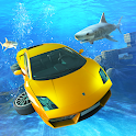 Underwater Stunts Car Flying Race icon