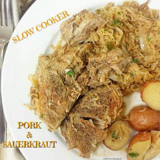 Slow Cooker Pork & Sauerkraut.