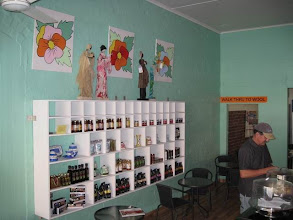 Photo: Work on display at Heather's cafe, Korumburra
