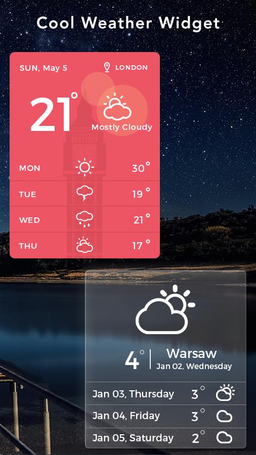 Скриншот Daily Weather Widget