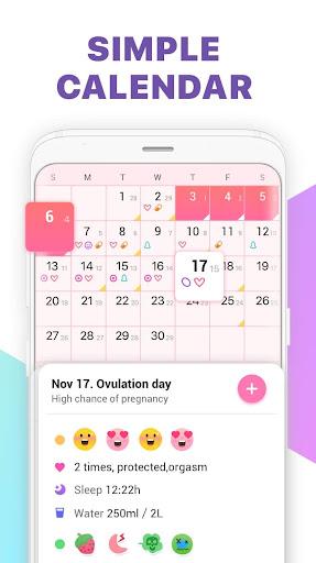 Period Tracker, Ovulation Calendar & Fertility app 1.1.8 screenshots 3