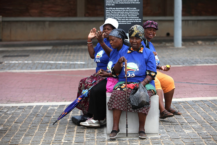 A group of Democratic Alliance supporters. Picture: THE TIMES/ALON SKUY