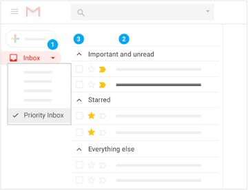 Use Priority Inbox to separate important email into sections