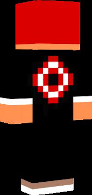 Skin de Minecraft Elegant cu rosu si cu alb si nu este de dinamo
