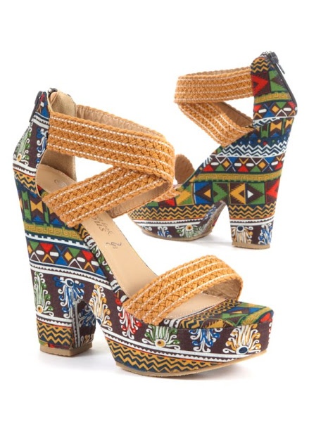 Photo: Exclusive Tribal Printed Wedge Sandals £24.99 http://bit.ly/KfqF5M