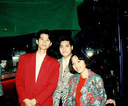 Photo: Sally and a very young Jimmy 'the face' Lee @ Canton 1987 - with waiter 'Rocky'