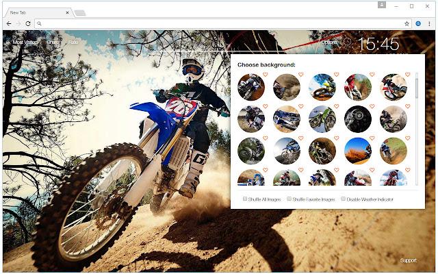 Dirt Bikes & Sports Bikes HD New Tab