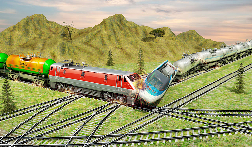 Indian Train City Pro Driving- Oil Tanker Train  screenshots 13
