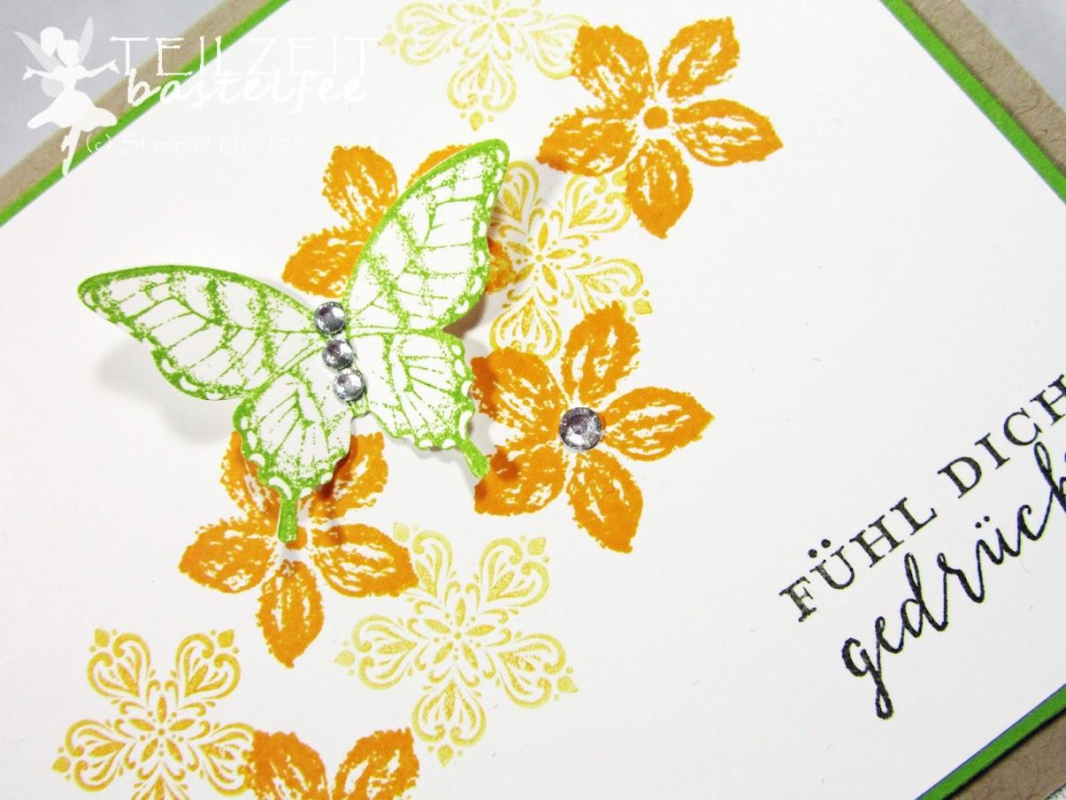 Stampin' Up - Inkspire_me, Color Challenge, Papillon Potpourri, Petite Petals