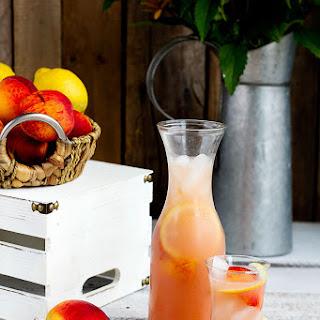 Fresh Peach Lemonade.