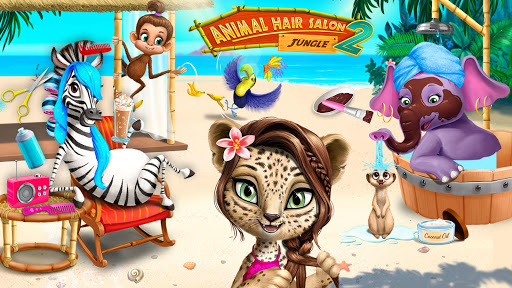 Jungle Animal Hair Salon 2 - Tropical Beauty Salon apklade screenshots 2