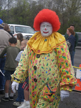 Photo: Another clown, in his Veggie Tales attire