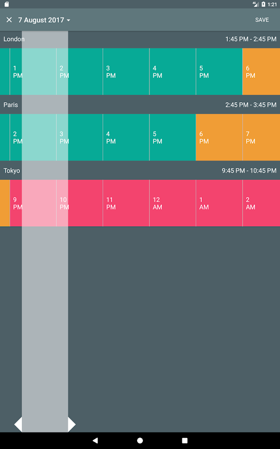 Meeting Planner by timeanddate.com- screenshot