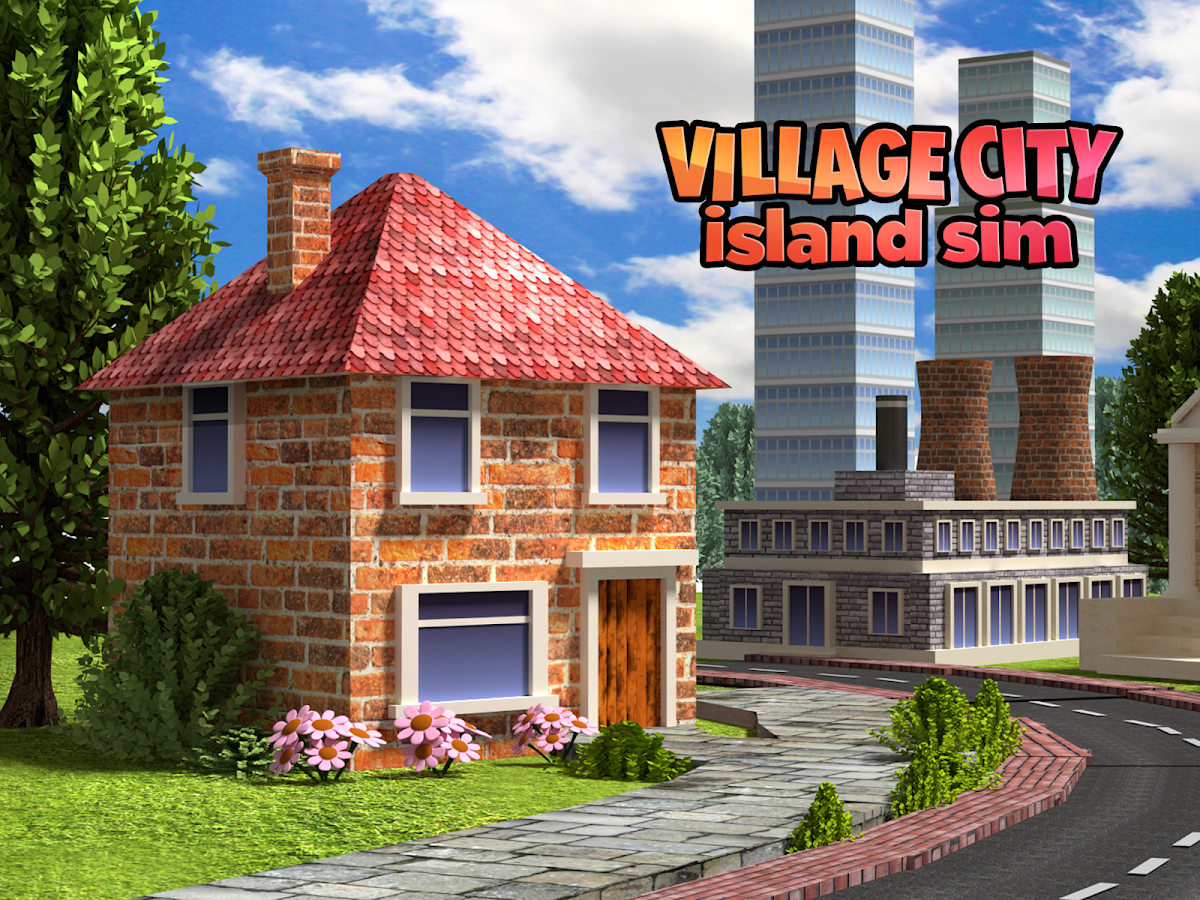 Village city island sim farm build virtual life Build a house online free