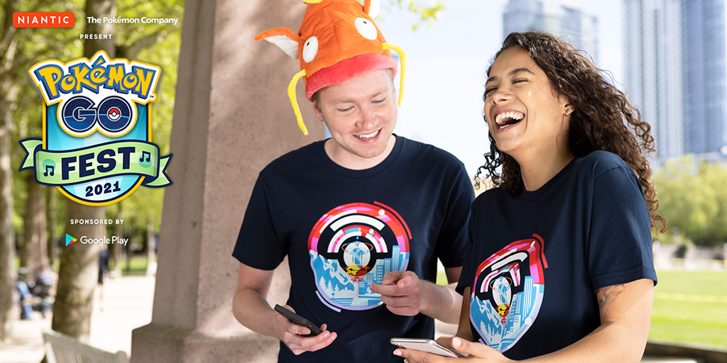 Pokémon GO Fest 2021 T-shirts will be available to Trainers in the United States, Canada, and Japan!