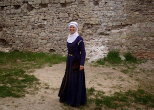 Photo: I found this lady as I toured the castle.
