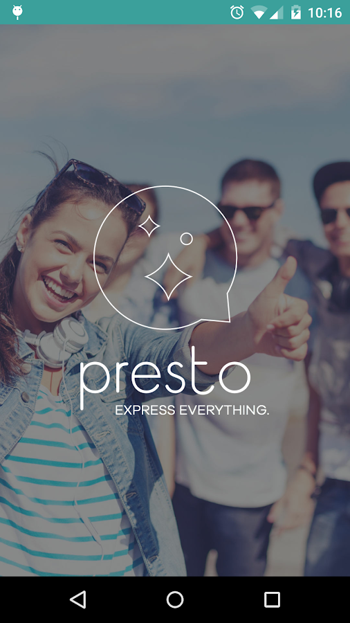 Presto- screenshot