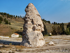 Photo: Liberty Cap at Mammoth Hot Springs