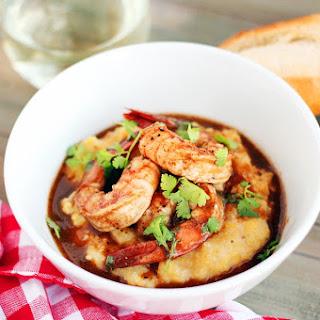Cajun Shrimp with Smoked Gouda Polenta.