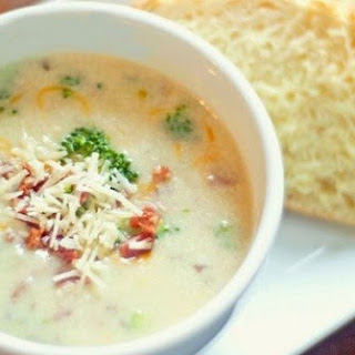 Vegetable Cream Soup Of Broccoli With Cheese.