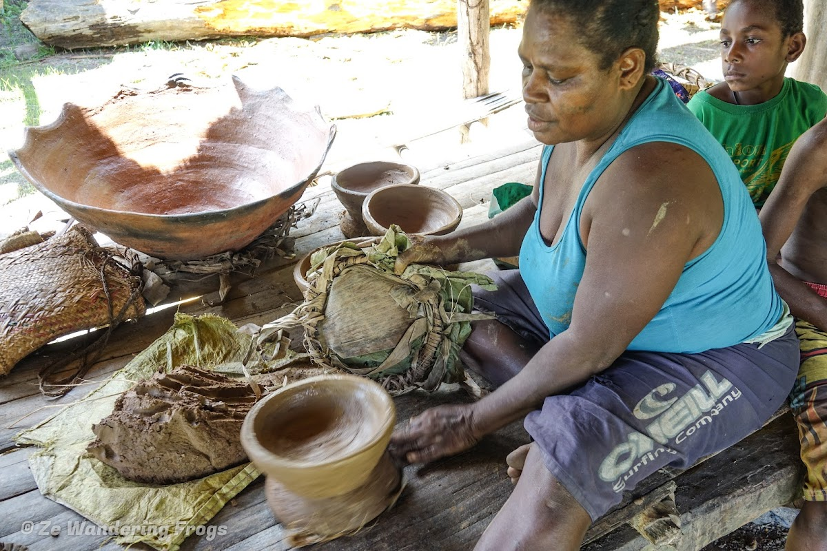 Papua. New Guinea East Sepik River Clans Crocodile Traditions. Pottery Making