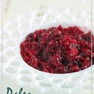 Paleo Pear-Ginger Cranberry Sauce.