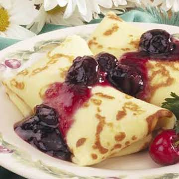 Cherry Cheese Blintzes Recipe