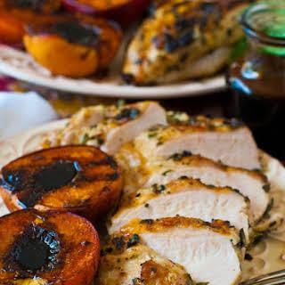 Grilled Basil Garlic Chicken Breasts.