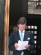 Photo: Hereditary Prince Heinrich zu Sayn-Wittgenstein, brother of the groom