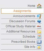 Select the assignments link in the menu to the left