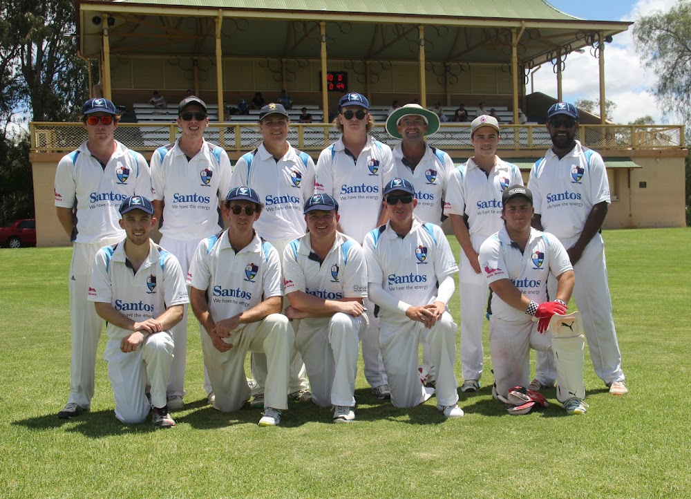 Narrabri's War Veterans Cup side which defeated Gunnedah on Sunday - back, Nathan Trindall, Brock Schwager, Ryan O'Neill, Jordyn Mowle, Chris Sargent, Nick Tomlinson, Nathan Collis, front, Jake Brayshaw, Nick Smart, Luke Meppem, Shane Murphy and Aaron Baker.