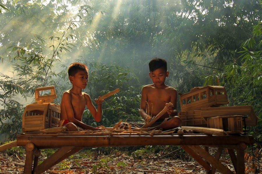 Traditional Game by Yanti Hadiwijono - Babies & Children Children Candids