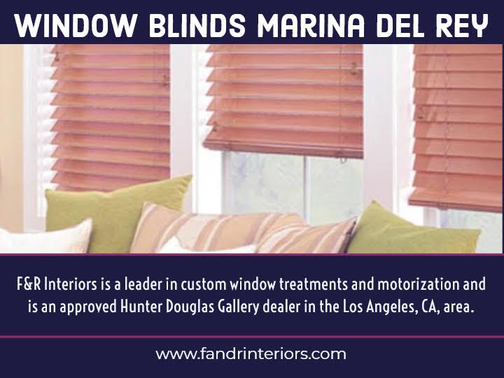 Window blinds in Marina Del Rey