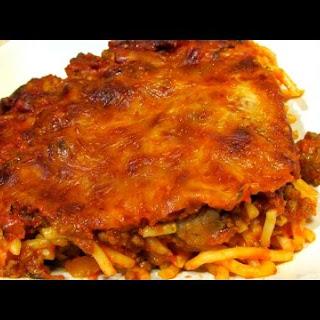 Spaghetti - Baked Spaghetti - Dinner Casserole Recipe