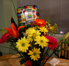 Photo: (Year 3) Day 27 - Vals Birthday Balloon and Flowers