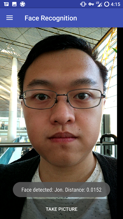 Face Recognition Application- screenshot