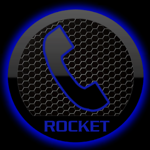 Theme Space Blue RocketDial