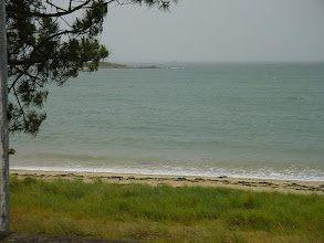 Photo: Carnac has a beach area popular with tourists - but only on a less drizzly and gusty day that we found, I'm sure!