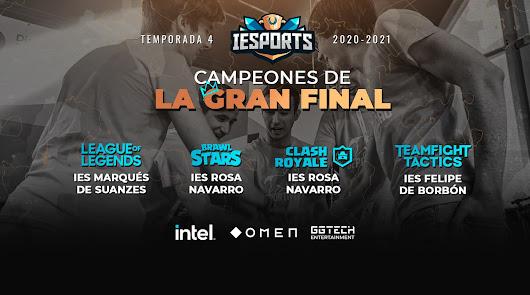 El IES Rosa Navarro de Olula se hace con un doble título en la Liga IESports